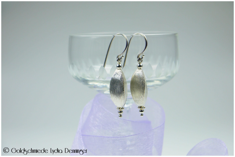 Ohrhänger 925/- Silber, Dreikantform