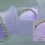 Fishtailring 925er Silber und unter dem Mikroskop mit neun Zirkonika gefasst