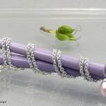 Perlenanhänger mit Blütenfassung 925er Silber, rhodiniert, Süßwasserperle