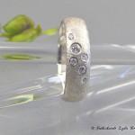 Sternenring 925 Silber und Zirkonia, eismattiert und rhodiniert