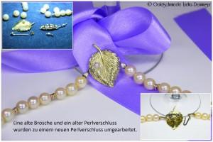Umarbeitung Brosche zum Perlenkettenverschluß
