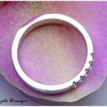 Verlobungsring 585/- Weißgold mit fünf Brillanten Seitenansicht