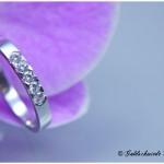 Verlobungsring 585/- Weißgold mit fünf Brillanten