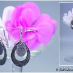 Ohrhänger 60er Jahre Stil 925/- Silber