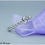 Silberring mit Swarovski Gemstones