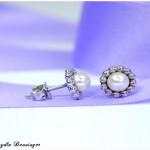 Perldrahtohrstecker mit echter Süßwasserperle, 925 Silber