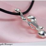 Phantasieanhänger 925/- Silber und Lederband