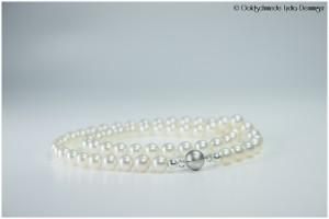 Süßwasser-Perlenkette mit Magnet-Perlenverschluß