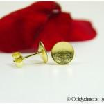 Ohrstecker konkav 585/- Gelbgold
