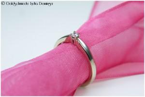 Verlobungsring 585/- Weißgold mit Brillant