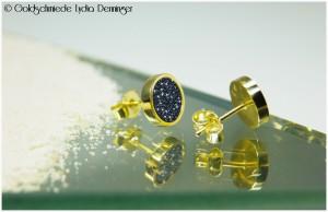 Luxcera-Ohrstecker 585/- Gelbgold
