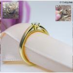 Entstehung Verlobungsring 585/- Gelbgold mit 3,4 mm Brillanten 0,14ct