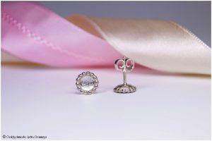 Ohrstecker Perldrahtkreis mit Schale 925 Silber