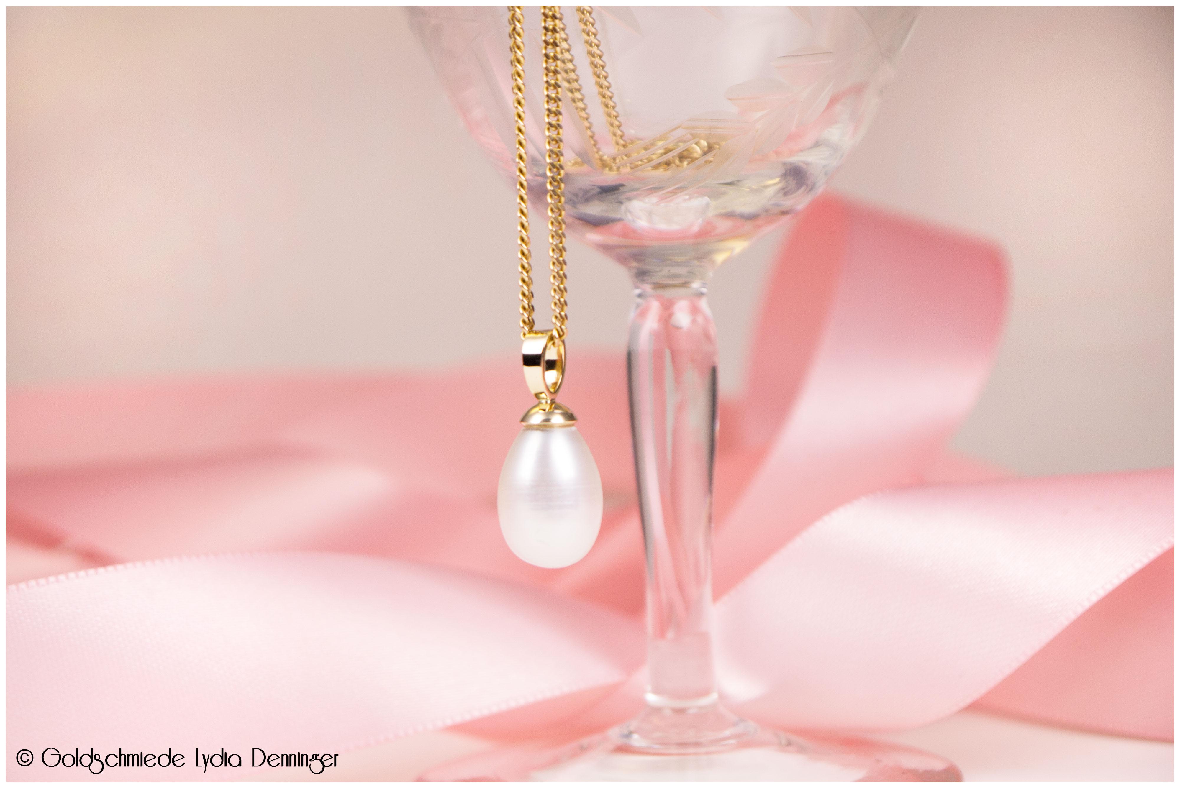 Perlenfassung 585/- Gelbgold