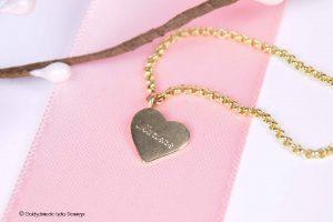 Armband mit Herzanhänger 333/8k Gelbgold