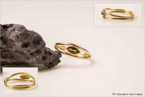 Verlobungsring 585/- Roségold mit Turmalin
